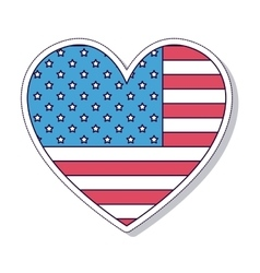 patriotic heart isolated icon design vector image
