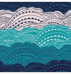 Pattern Sea Waves 2 vector image vector image