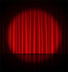 Spotlight on stage curtain vector