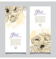 Vintage Floral Banner vector image vector image