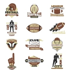 American football sign set vector image vector image
