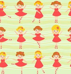 Ballerinas pattern vector image