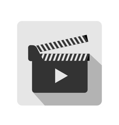 Clapboard flat icon vector image