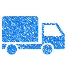 delivery truck grunge icon vector image