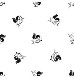 love cupid pattern seamless black vector image