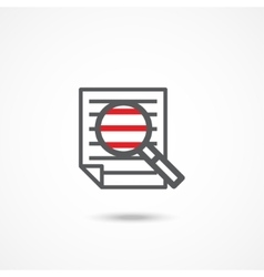 Research icon vector image