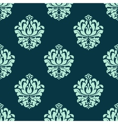 Seamless pattern with baroque floral tracery vector