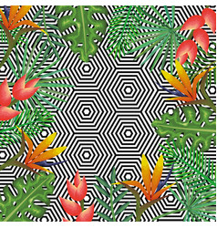 Tropical flower with abstract background desktop vector