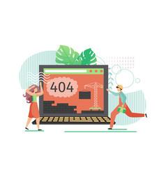 404 error on website flat style design vector image