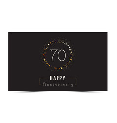 70 years happy anniversary card vector