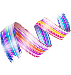 Abstract paint brush stroke colorful curl of vector