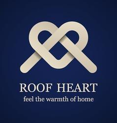 abstract roheart symbol vector image