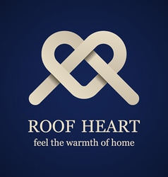 abstract roof heart symbol vector image