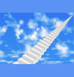 Abstract stair in sky vector