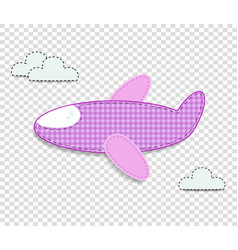 Airplane clip art for scrapbook or baby shower vector