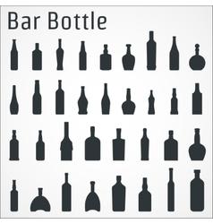 Bar bottle icon vector