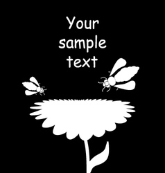 bees and flower vector image