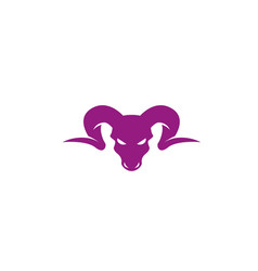 bighorn sheep head angry face logo design vector image