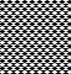 Black and white ethnic motifs carpet vector