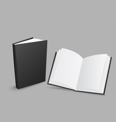 black closed and open books vector image