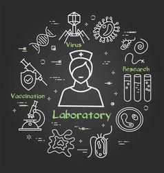 black concept analysis laboratory woman vector image