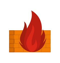 burning security icon flat style vector image