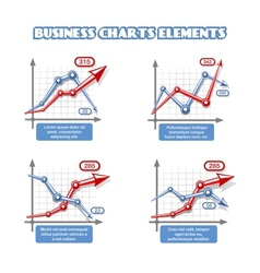 Business graph elements for infographics vector