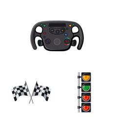 car and rally logo vector image