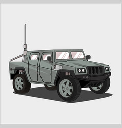 Car jeep army car vector