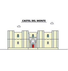Castel del monte line travel landmark skyline vector