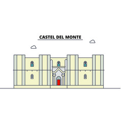 castel del monte line travel landmark skyline vector image