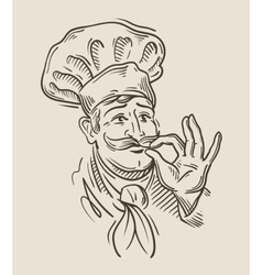 Chef sketch vector