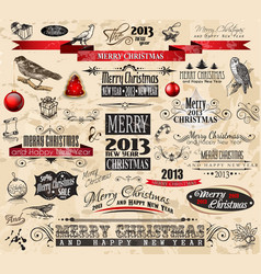 Christmas Vintage Design Elements vector image
