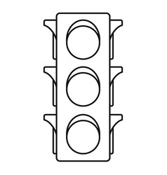 Classic traffic lights icon outline style vector