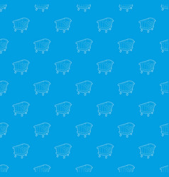 cradle pattern seamless blue vector image