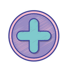 Cross medicine symbol to help the people vector