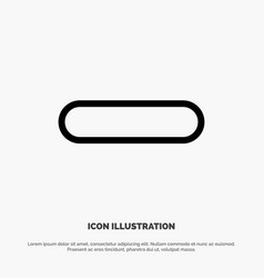 Delete less minus remove line icon vector