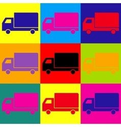 Delivery sign Pop-art style icons set vector image