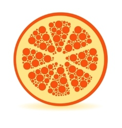 Dots orange vector