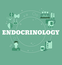 endocrinology concept concept vector image