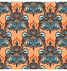 Ethnic damask seamless pattern vector image