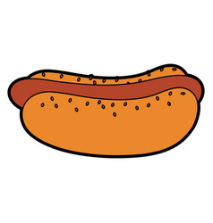 fast food icon image vector image