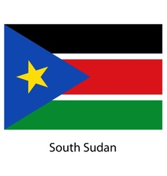Flag of the country south sudan vector image