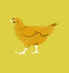 Flat shading style icon hen vector