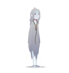 ghost girl halloween character vector image