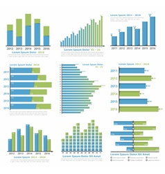 Graphs and Charts vector