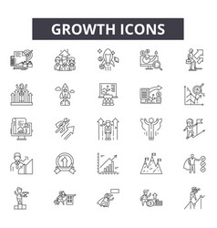 growth line icons for web and mobile design vector image