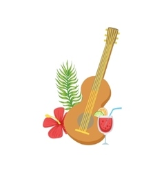 Guitar Hawaiian Vacation Classic Symbol vector image