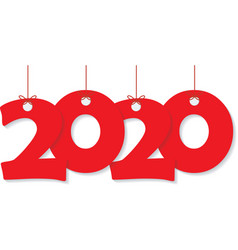 happy new year 2020 text design pattern vector image