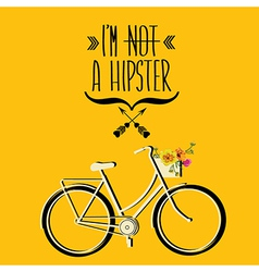 Hipster bicycle vector